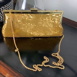 Vintage La Regale gold clutch